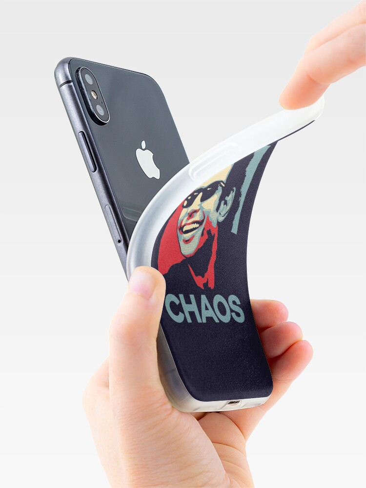 Vista alternativa de Funda y vinilo para iPhone Camiseta de Ian Malcolm 'Chaos'