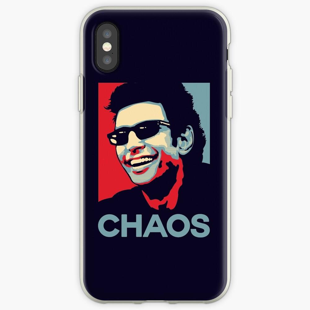 Camiseta de Ian Malcolm 'Chaos' Funda y vinilo para iPhone