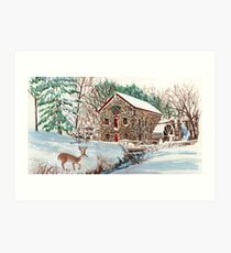 The Old Sudbury Grist Mill Art Print