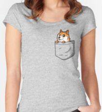 Doge Pocket (Pocket Doge T-Shirt) Women's Fitted Scoop T-Shirt