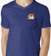 Doge Pocket (Pocket Doge T-Shirt) Men's V-Neck T-Shirt