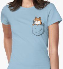 Doge Pocket (Pocket Doge T-Shirt) Women's Fitted T-Shirt