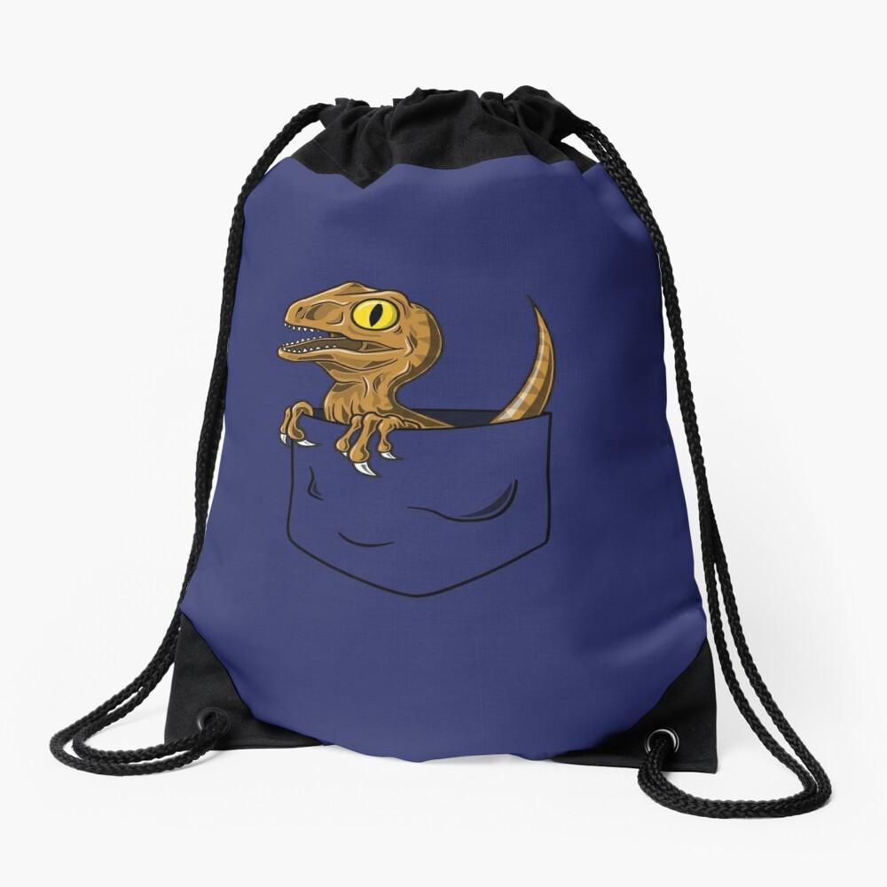Pocket Raptor T-Shirt Drawstring Bag