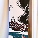 Snowboard Commission Painting for Chris by Natassja