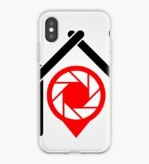 A placement with aperture sign inside a house iPhone Case