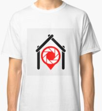 A placement with aperture sign inside a house Classic T-Shirt