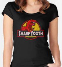Sharp Tooth T-Shirt (Jurassic Park) Women's Fitted Scoop T-Shirt