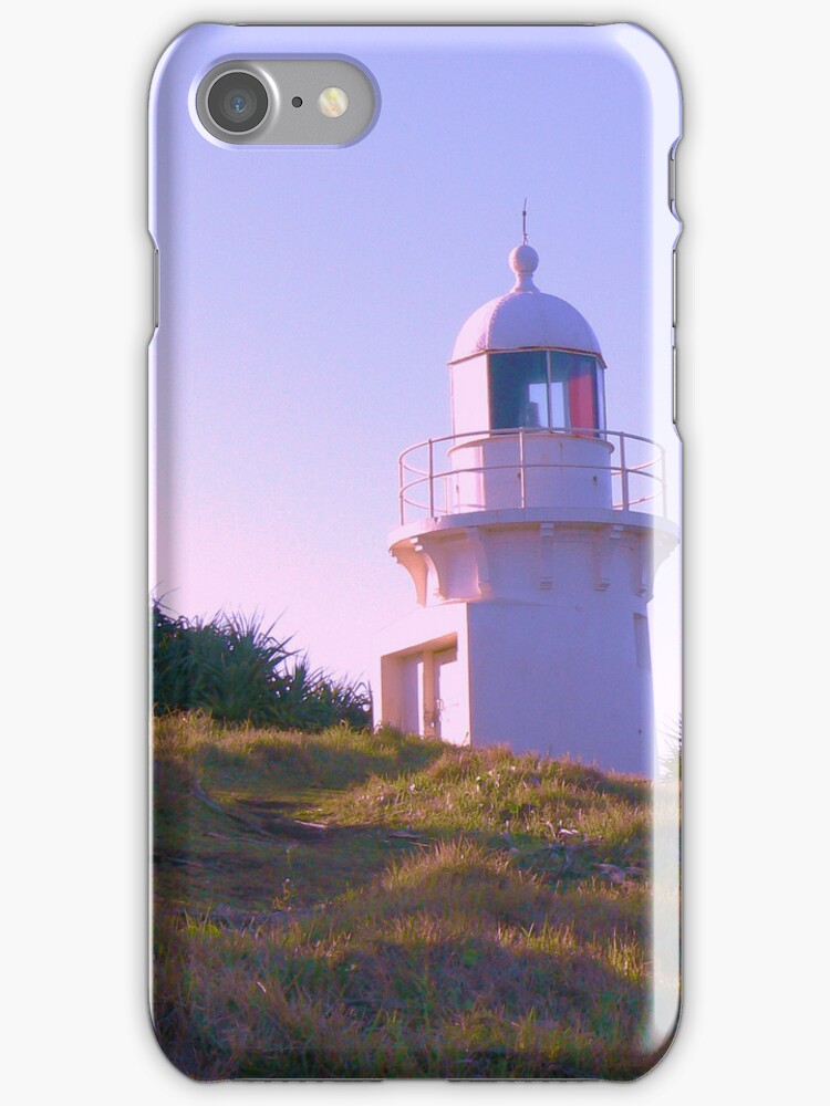 Fingal Lighthouse iPhone cover by Virginia McGowan