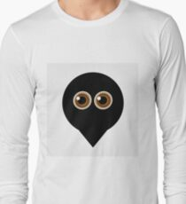 A placement with cute ghost having hazel eyes  Long Sleeve T-Shirt