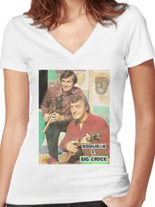 Hoolihan and Big Chuck T-shirt Women's Fitted V-Neck T-Shirt