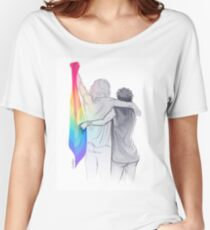 The Rainbow Flag: 'I would if I could… not yet, but soon.' Women's Relaxed Fit T-Shirt