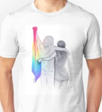 The Rainbow Flag: 'I would if I could… not yet, but soon.' Unisex T-Shirt
