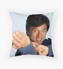 Jackie Chan is a happy guy Throw Pillow