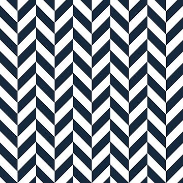 Navy Offset Chevrons by ImageNugget