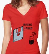 Im Your Father Women's Fitted V-Neck T-Shirt