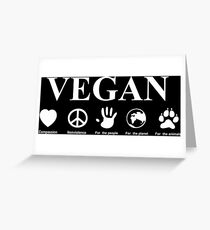 Go Vegan Greeting Card