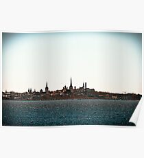 Tallinn Silhouette Poster
