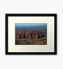 Uluru from the sky Framed Print