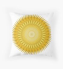Sun Mandala Yellow Throw Pillow