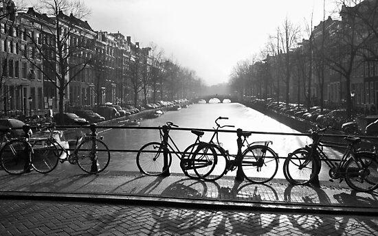 Bicycles on the Bridge by Mieke Boynton