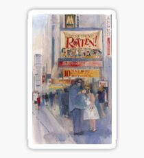 Something Rotten - Broadway Musical - Selfie - New York Theatre District Watercolor Sticker