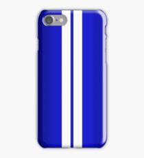 Blue Car Stripes iPhone Case/Skin