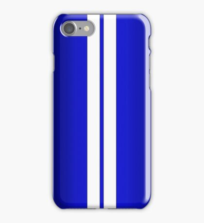 Blue Car Stripes iPhone Case/Skin