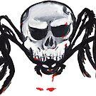 Halloween Spooky Skull Spider by gaetax12