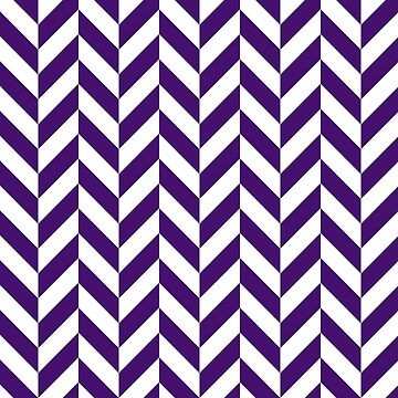 Purple Offset Chevrons by ImageNugget