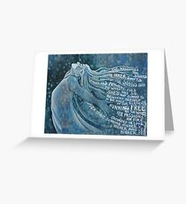 I Am The Storm . with text from Annie Ferguson Greeting Card