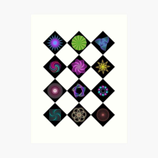Beautiful colorful geometric rhombus shapes Art Print