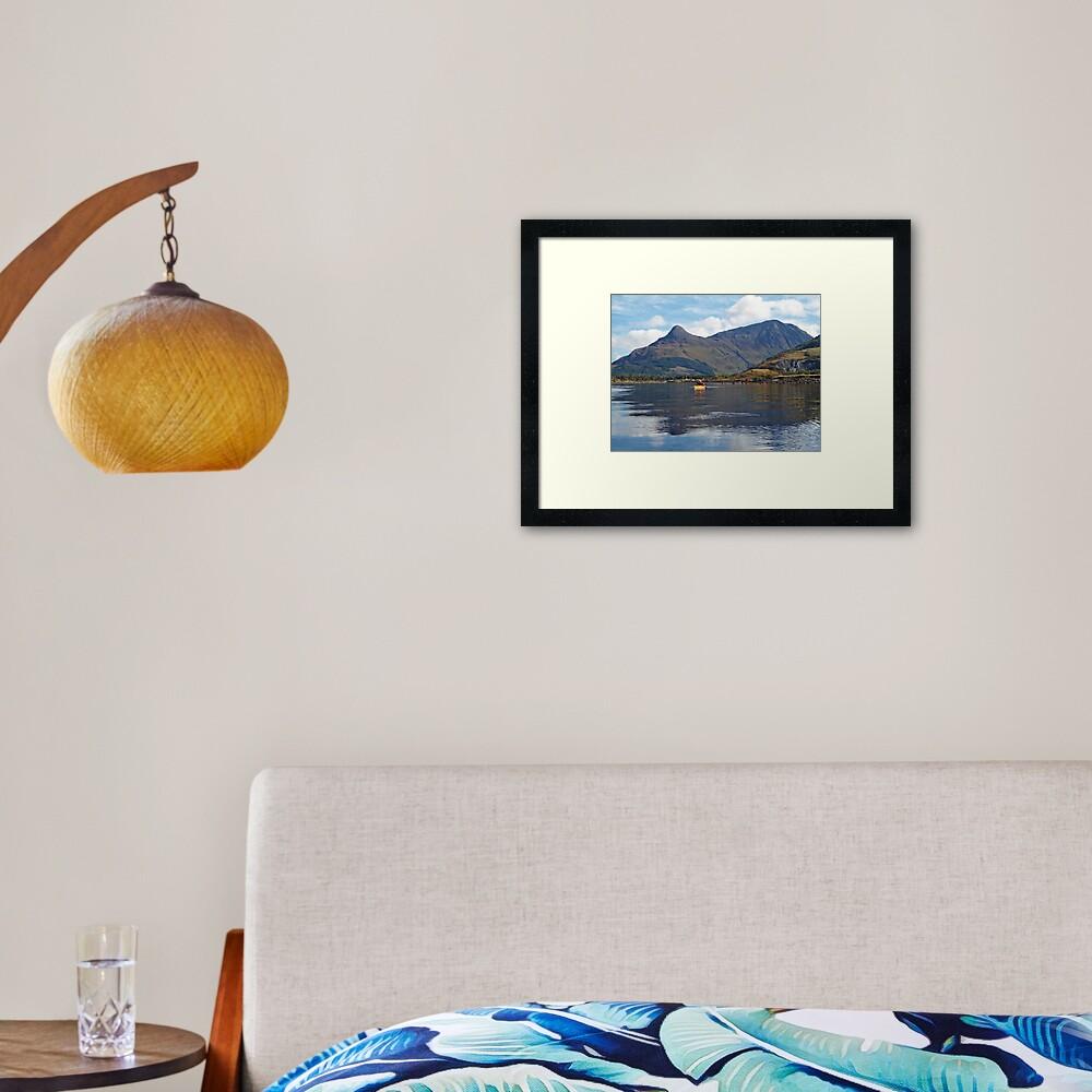 Reflective paddling Framed Art Print
