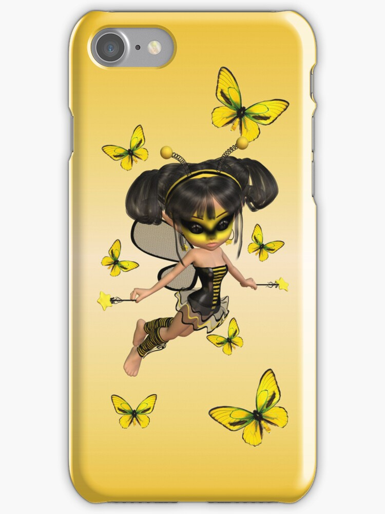 Busy bee fairy .. iphone case by LoneAngel
