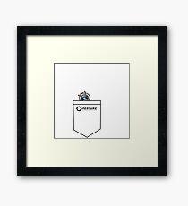Tiny Wheatley in Pocket :3 [Portal] Framed Print