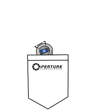 Tiny Wheatley in Pocket :3 [Portal] by SpyScout