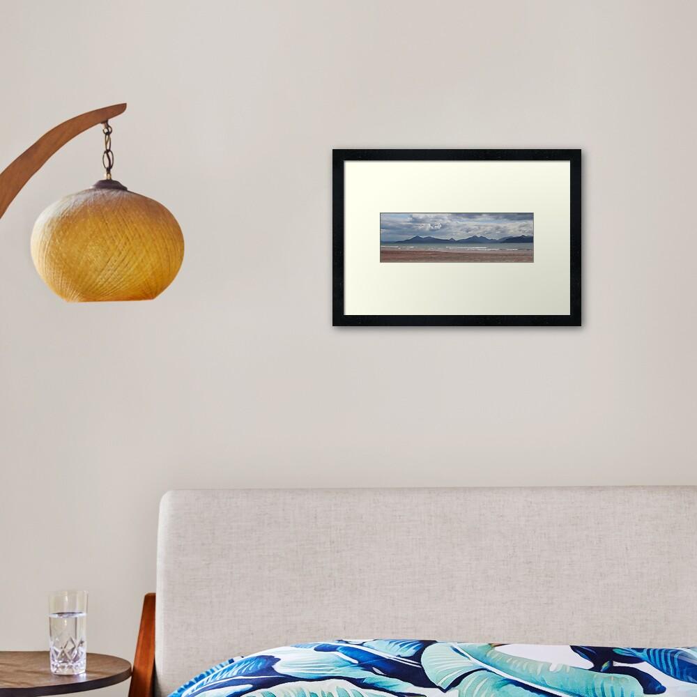 Applecross panorama Framed Art Print