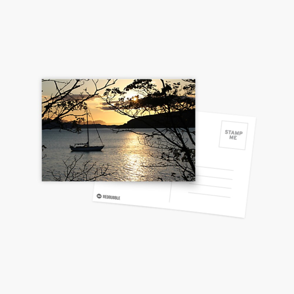 Applecross sunset Postcard