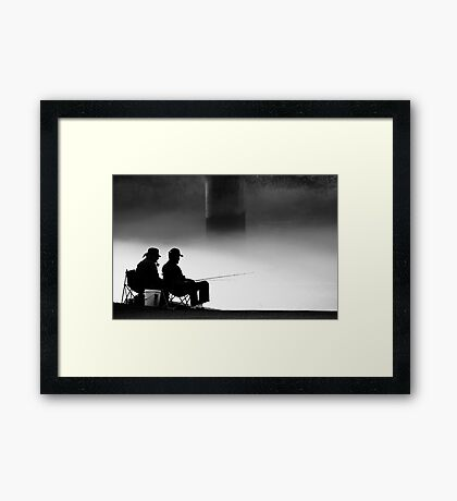Smoking and Fishing 2 Framed Print