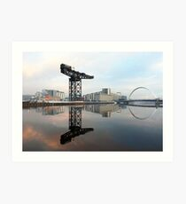 River Clyde reflections Art Print