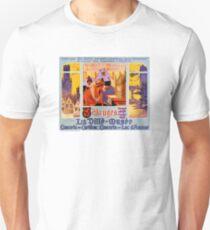 Bruges Vintage Travel Poster Restored Unisex T-Shirt