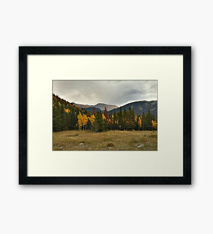 Rockies in the Fall Framed Print