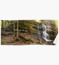 Trout Brook Falls - GigaPan Poster