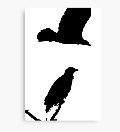 on the snag and on the wing eagles silhouette Canvas Print