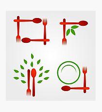 Organic cuisine artwork Photographic Print