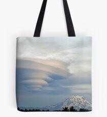 Fabulous Lenticular cloud and Mount Rainier Tote Bag