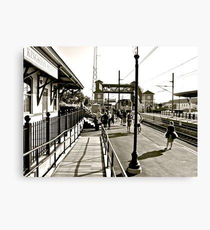The Train to Boston Canvas Print