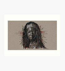 The Walking Dead Michonne Art Print