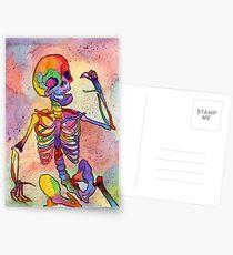 Rainbow Skeleton Postcards
