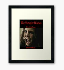 The Vampire Diaries - Elena - Katherine - (Designs4You) Framed Print