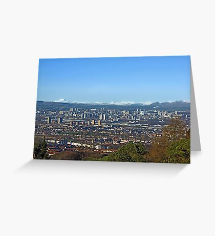 Winter over Glasgow Greeting Card